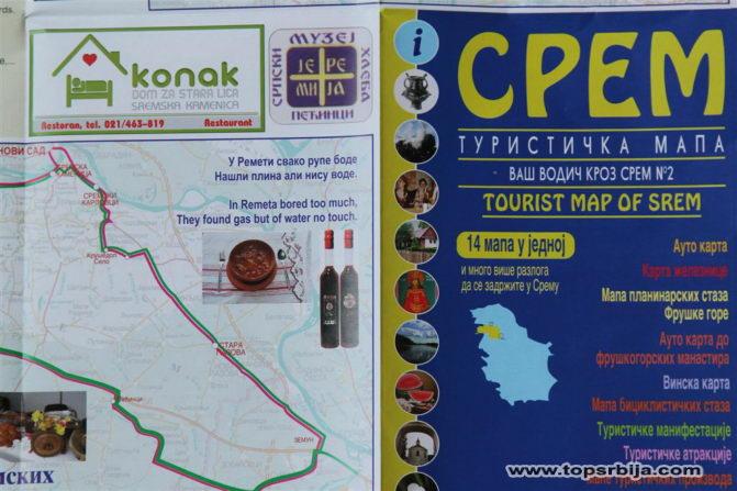 Turisticki Klaster Srem Publikovao Sjajnu Mapu